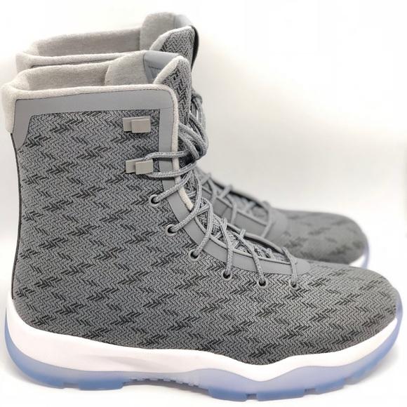 b4e2b9d97b21 New Jordan Future Boot Light Grey 854554-100